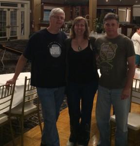 Authors Michael Evans, Stacey Longo, and Kurt Newton.