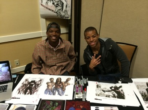 Theshay West and Moses Moseley of The Walking Dead.