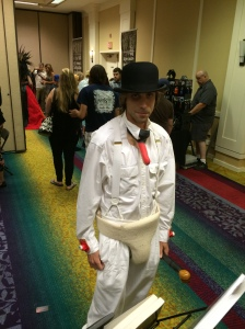 A Clockwork Orange cosplay.