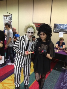 Beetlejuice and Lydia.
