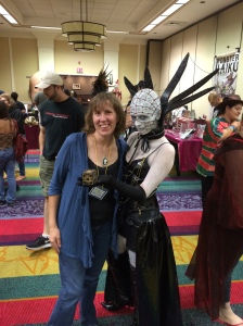 Stacey Longo with Lady Pinhead.