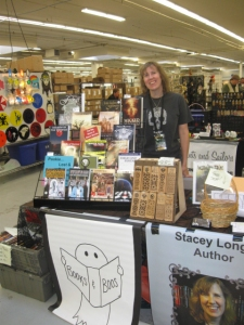 Author Stacey Longo at the Books & Boos table.