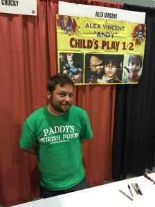 Actor Alex Vincent (Child's Play, Child's Play 2).