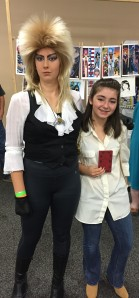 Jareth the Goblin King and Sarah.