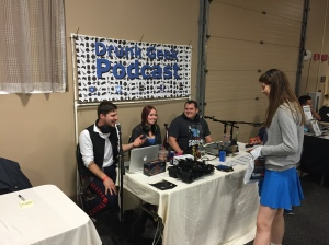 The Drunk Geek Podcast table.