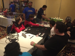 The gaming room at Vermont Comic Con.