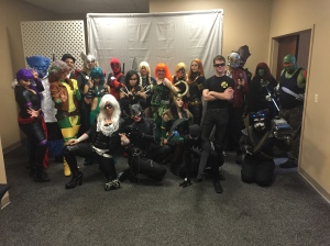 The cosplayers of Hero Army Cosplay, out of Connecticut.