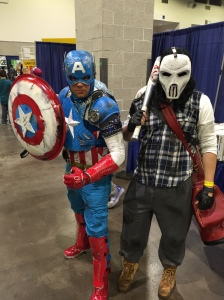 Captain America and Casey Jones.