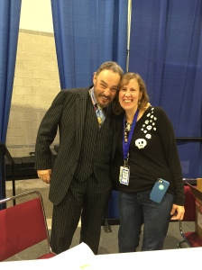 Actor John Rhys-Davies (Raiders of the Lost Ark) and author Stacey Longo.