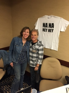 Author Stacey Longo and musician Gary DeCarlo.