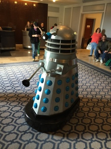 A Dalek from Dr. Who.