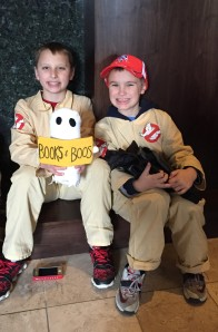 BB hanging with the Ghostbusters.