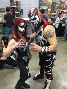 Wrestler The Devil's Reject and friend.
