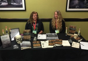 The Macabre Maine, a publishing project, table.