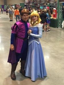 Prince Charming and Cinderella.