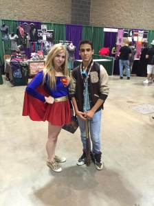 Supergirl and friend.