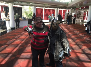 Freddy Krueger and Jason  Voorhees.