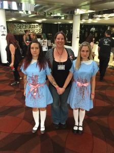 Author Kristi Petersen Schoonover with The Shining girls.