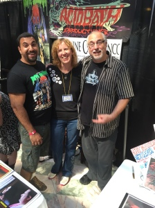 Independent filmmaker James Balsamo (left), author Stacey Longo (middle), and actor Carmine Capobianco (right).