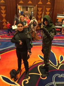 Green Arrow and fellow archer.