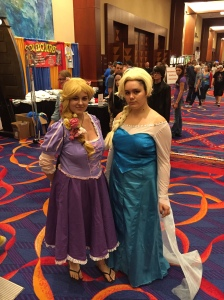 Disney Frozen's Anna and  Elsa.