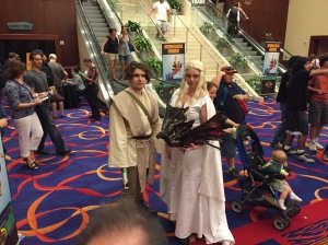A Jedi and Game of Thrones' Daenerys Targaryen.
