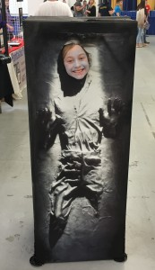 Han Solo in carbonite.