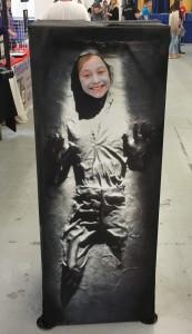 Han Solo in carbonite.