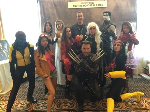 Me with Wolverine and the Montreal X-men.