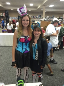Characters from Alice in Wonderland visit VT Comic Con.