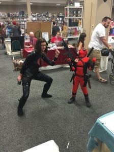 The Baroness and Deadpool.