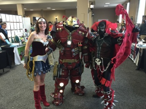 Wonder Woman, Iron Man, and Spawn.