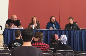 Authors on the Writer's Studio panel (from left to right): Joe Knetter, Stacey Longo, K.H. Vaugn and Jack Ketchum.