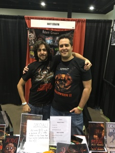 Authors Adam Cesare (right) and Matt Serafini (left).