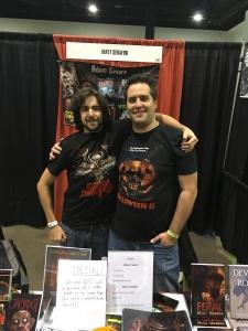 Authors Adam Cesare (right) and Matt Serafini (left).