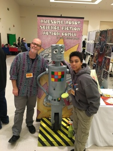 Michael and Diego Mongue, the creators of Awesome Robot.