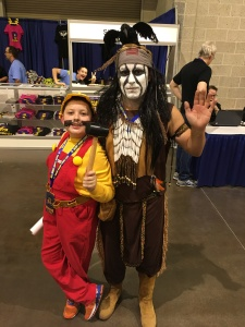 Mario and Tonto and a Rhode Island Comic Con volunteer photo-bombing in the background.
