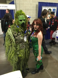 Swamp Thing and Poison Ivy.