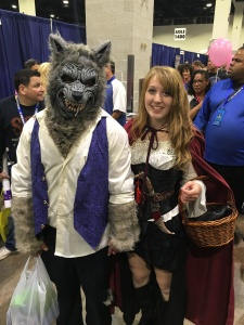 The Wolf and Red Riding Hood.