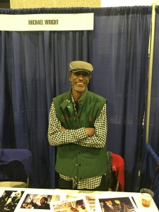 Actor Michael Wright (V).