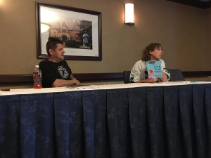 Authors Matt Herring and Stacey Longo at their The Art of Genre Writing panel.