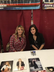 Actresses Natalie Skyy (Sons of Anarchy) and Arryn Zech (Red vs. Blue).