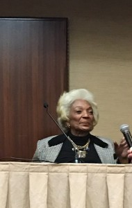 Actress Nichelle Nichols (Star Trek).
