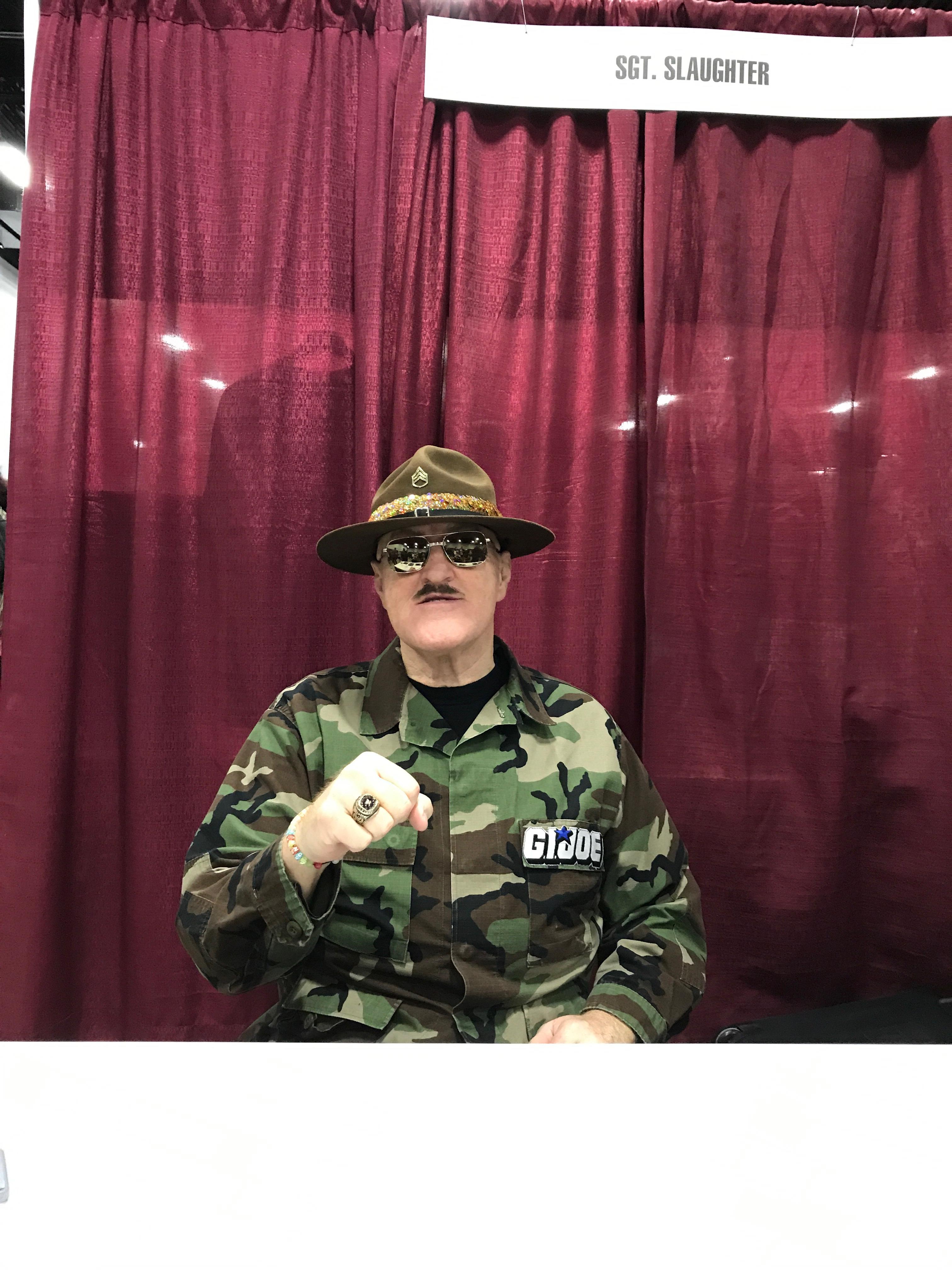 Sgt. Slaughter.