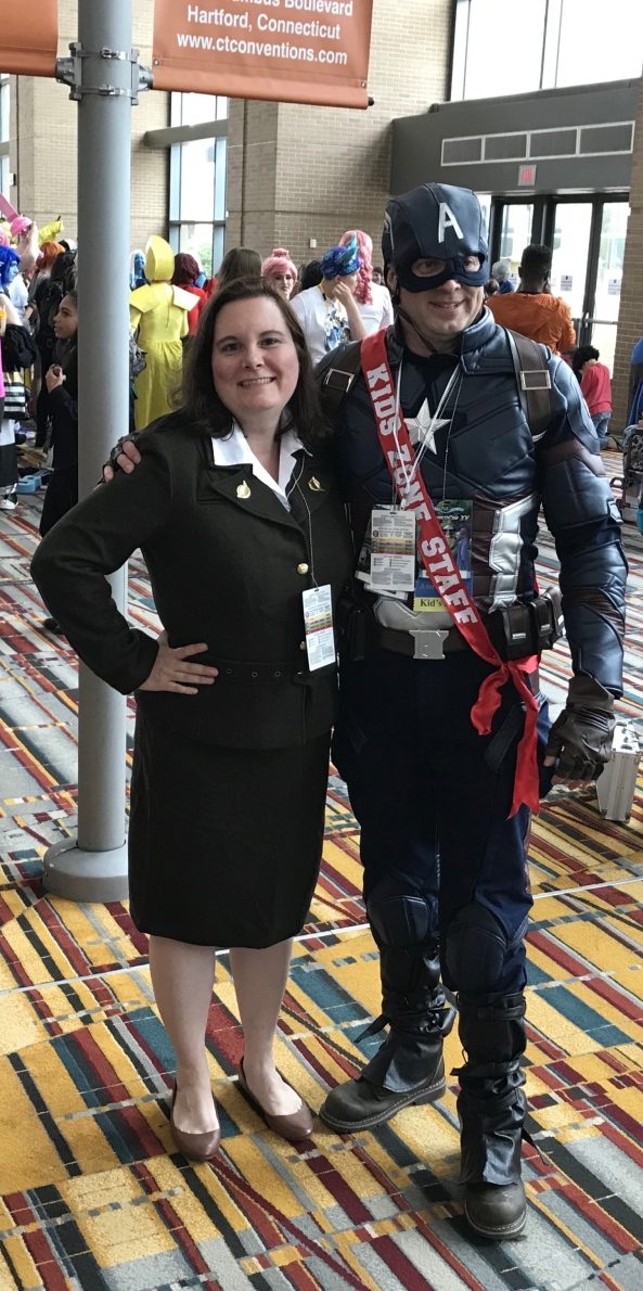 Peggy Carter and Captain America.
