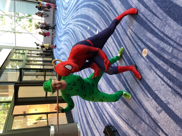 The Riddler and Spider-man.