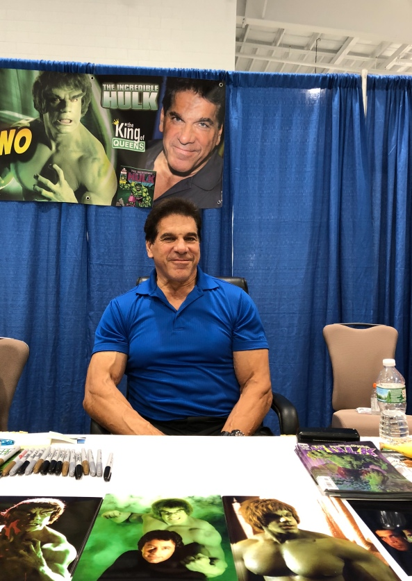 Lou Ferrigno (The Incredible Hulk).