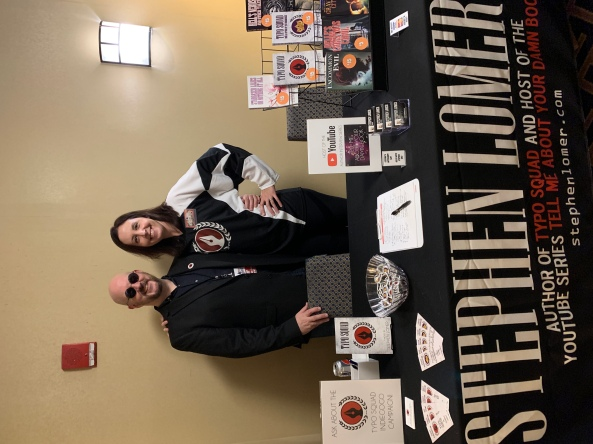 Author Stephen Lomer and Teresa Boudreault.