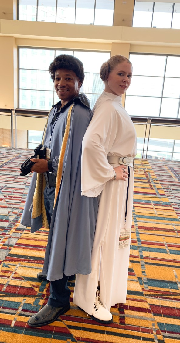 Lando Calrissian and Princess Leia Organa.