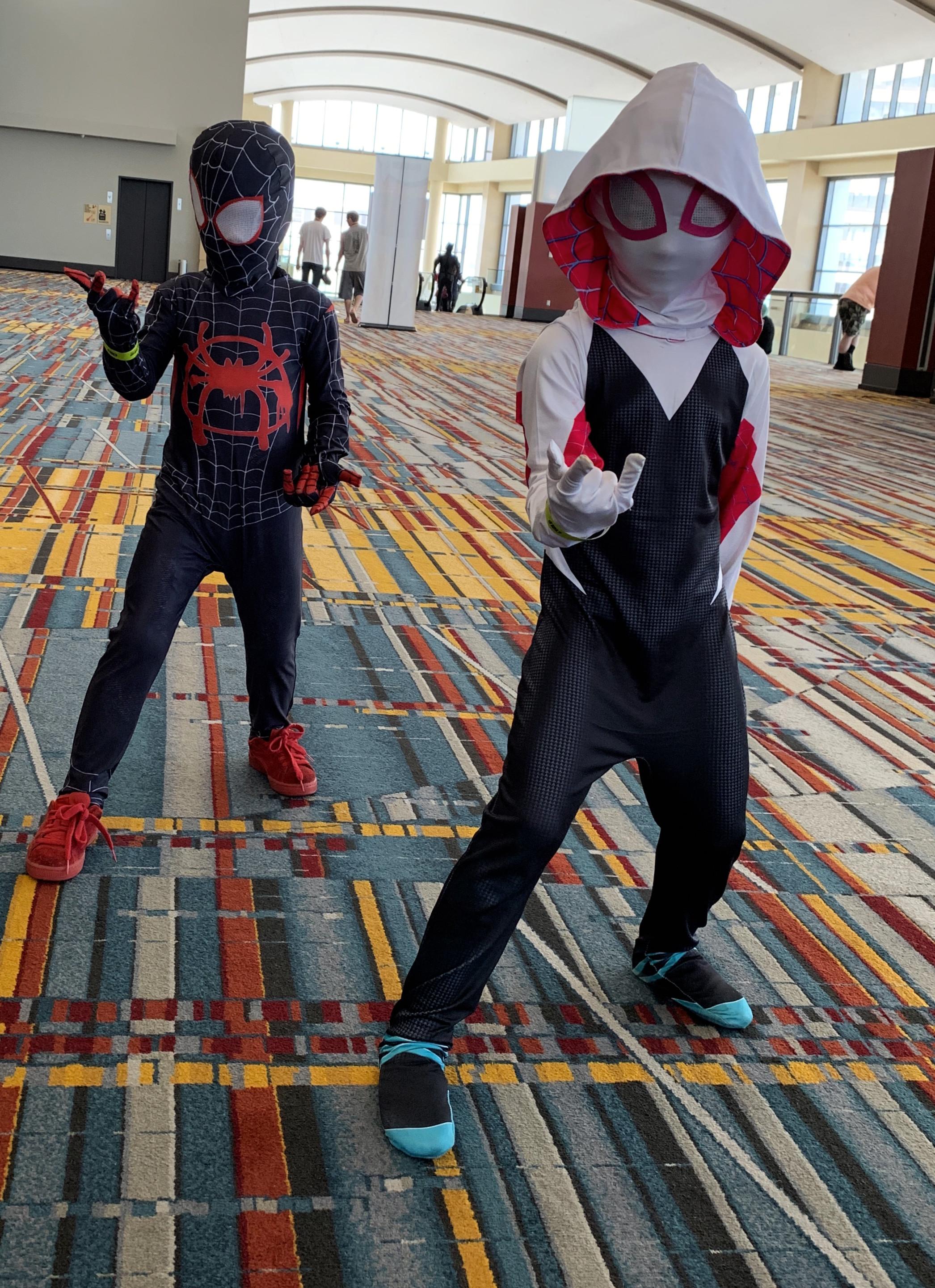 Spider-man and Spider Gwen.